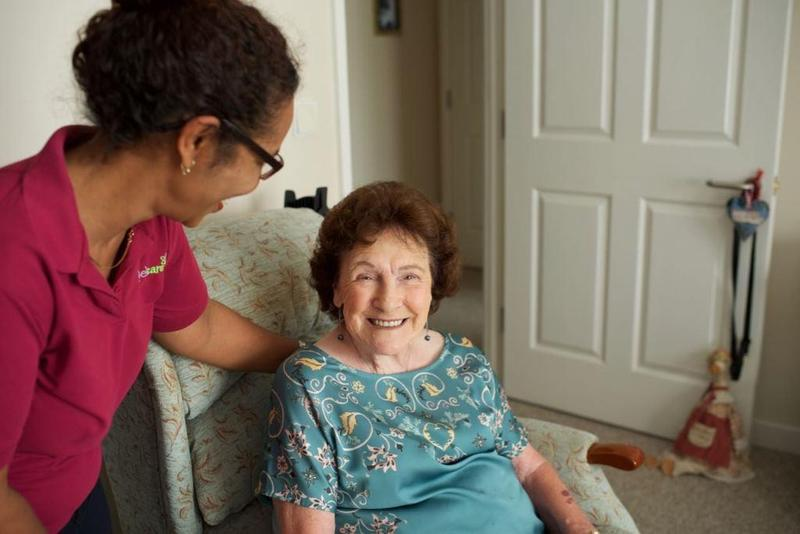 Brunelcare Community Carer with client