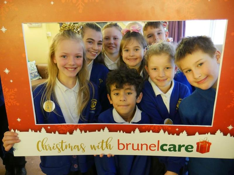 Waycroft Academy pupils with Brunelcare