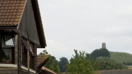 view of Tor from Glastonbury care home