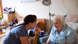 Care with resident in Glastonbury room