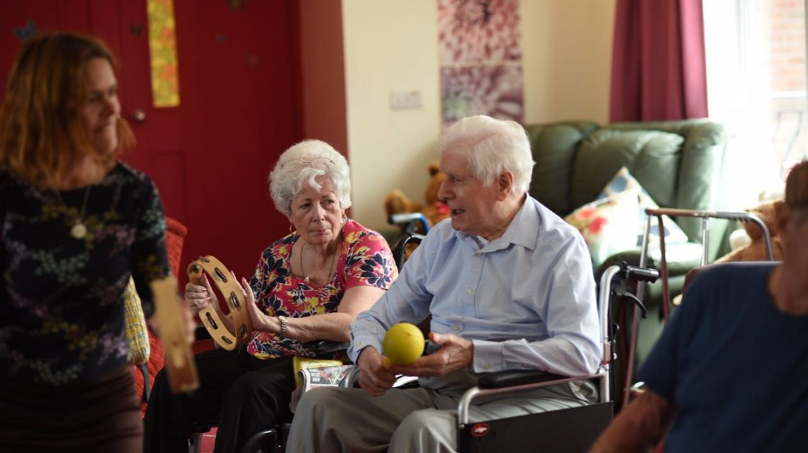 activity session Robinson House care home