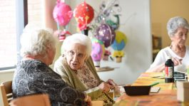 tenants chatting at art class Colliers Gardens