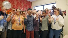Saffron Gardens care home team