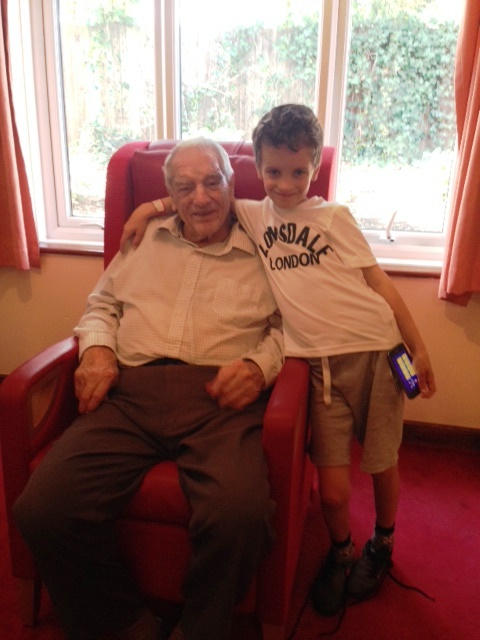 Zane with his grandad