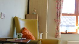 chair in Glastonbury care home room